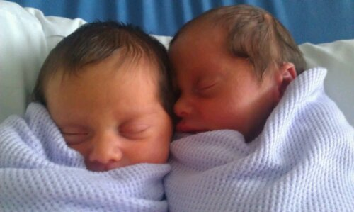 May 14th - My beautiful twins were born at 6:22am & 6:57am