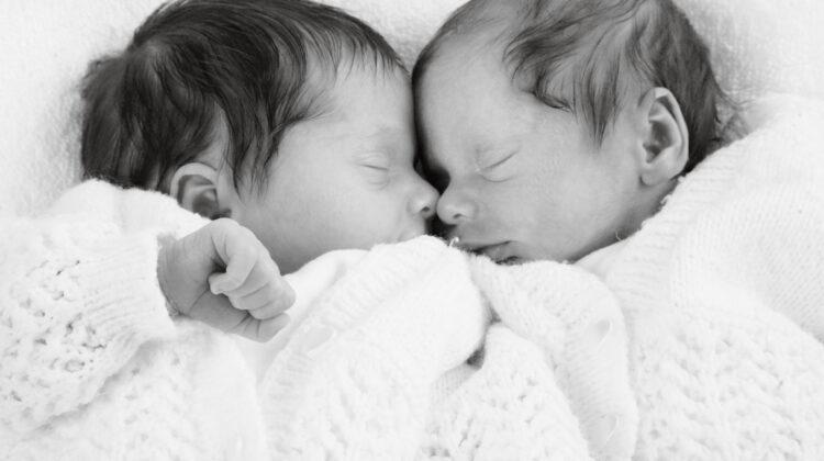 newborn twins asleep, the 3am club, getting babies back to sleep, baby sleep tips