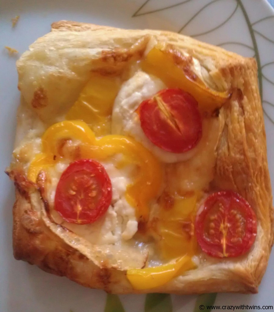 Goats cheese and yellow pepper