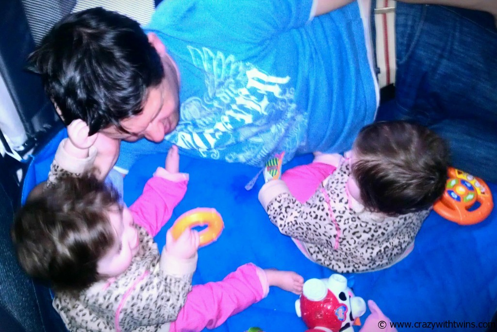 Daddy volunteered to take part in our Hair-Pulling demonstration...