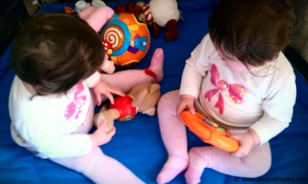 The truth about baby twins and toys!