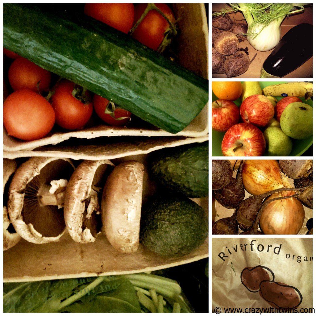 A selection of the things we got in our Riverfood Organic Veg Box