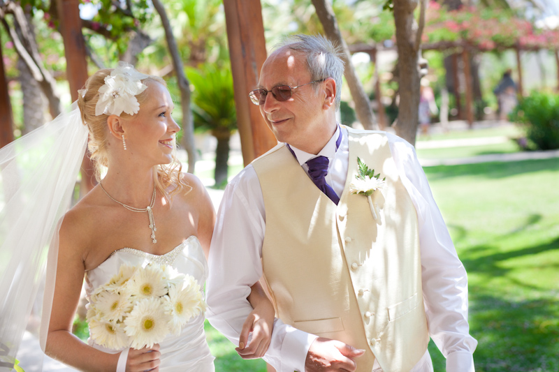 My Daddy walking me down the Aisle Photos by DC Photographic