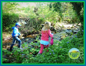 Children playing at Coombe Mill