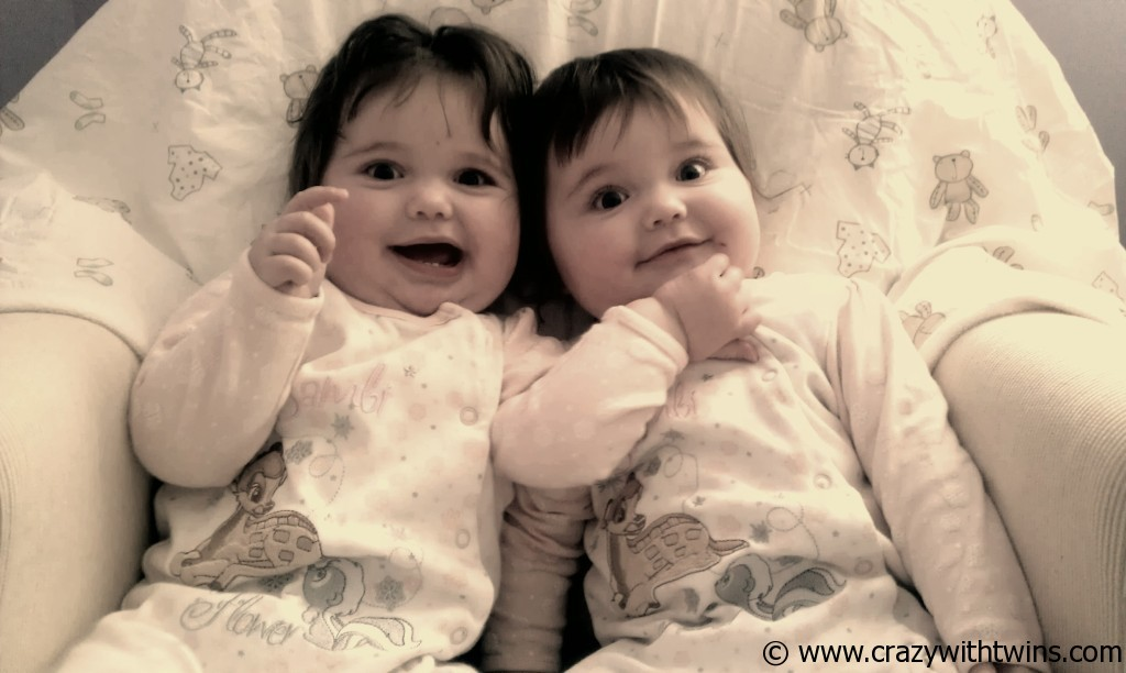Cheeky 9 month old twins