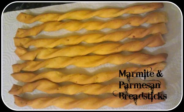 Marmite & Parmesan Breadsticks