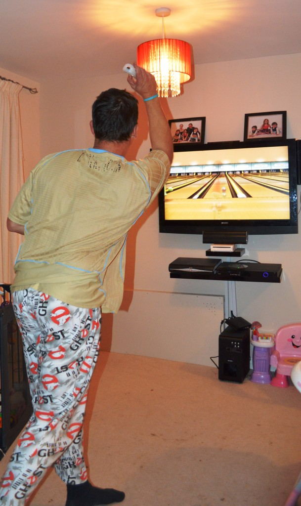 Jonny playing on the Wii
