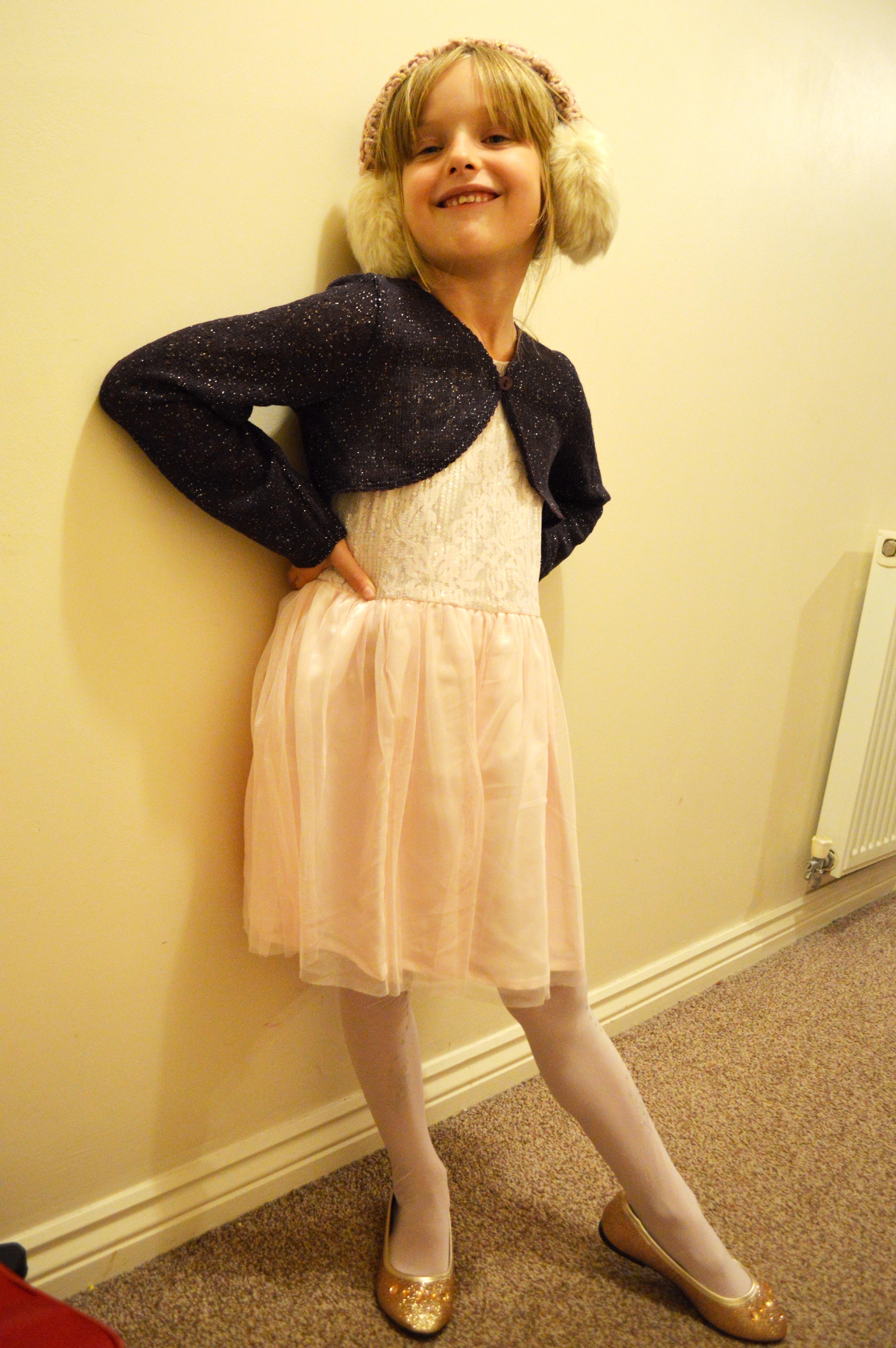 Tesco f f yellow dress  girl