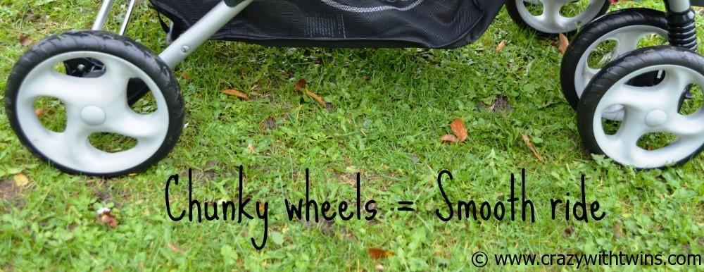 Graco Tandem - chunky wheels