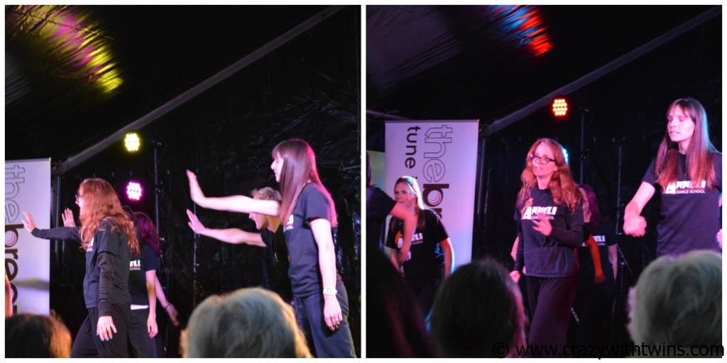 Sarah (Mum of Three World) Dancing on stage
