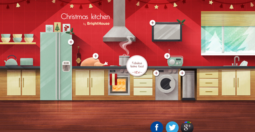 Bright House Christmas Kitchen