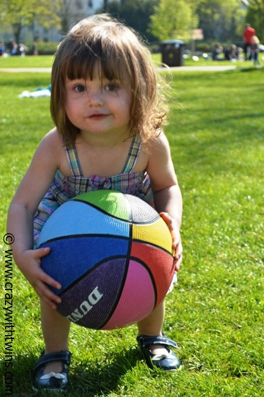 23 month old playing ball