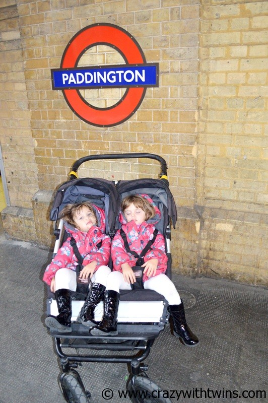 Toddler twins on the underground