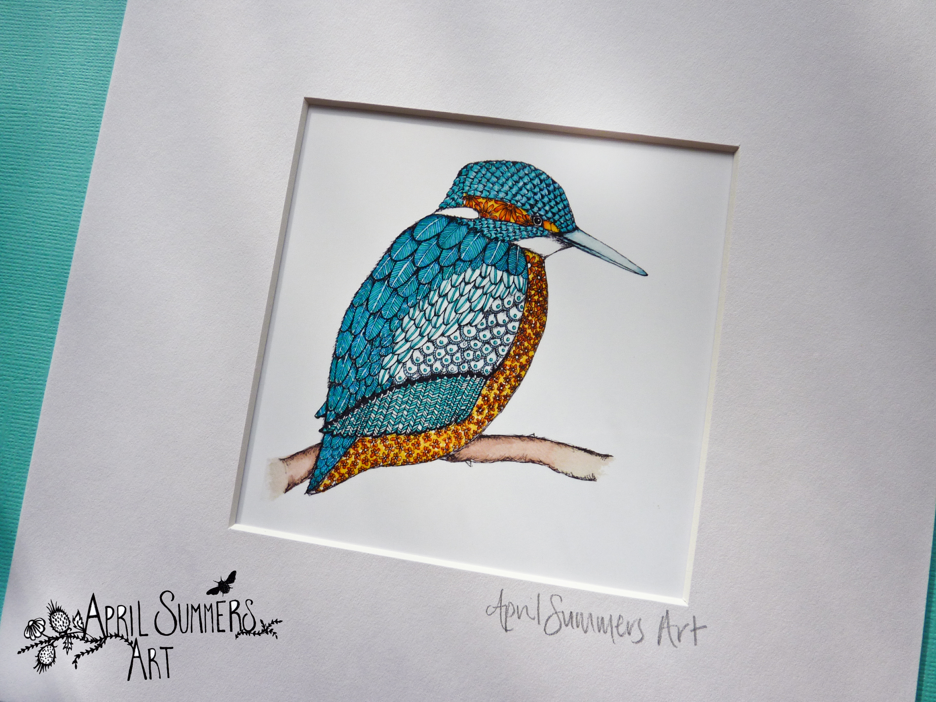 Mr Kingfisher mini print