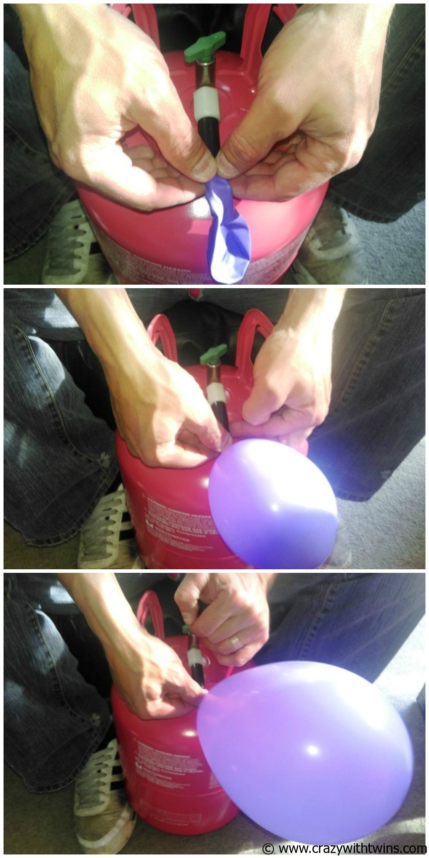 How to use a Balloon Time kit