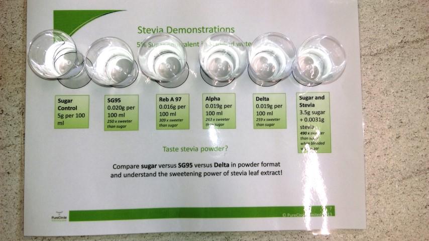 Stevia taste testing
