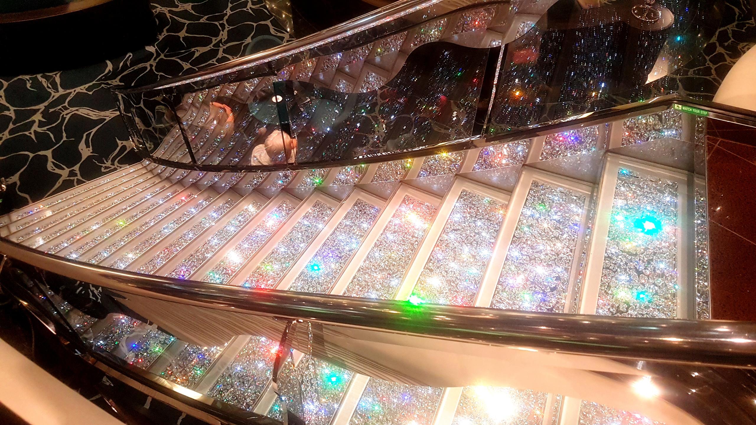 Swarovski crystal staircase, MSC Preziosa