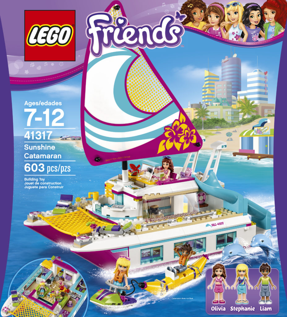 Dream Toys, Dream Toys 2017, Dream Toys list, Christmas toys, Lego Friends, Lego Friends Sunshine Catamaran, Lego Catamaran, Lego boat
