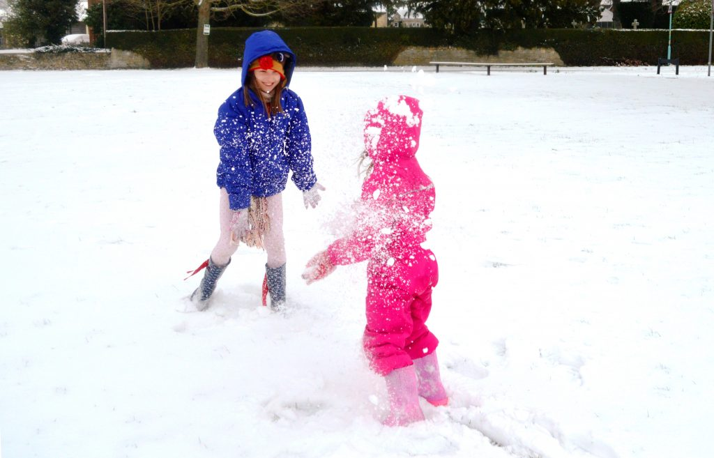 snowball fight, storm emma, the beast from the east, snow days