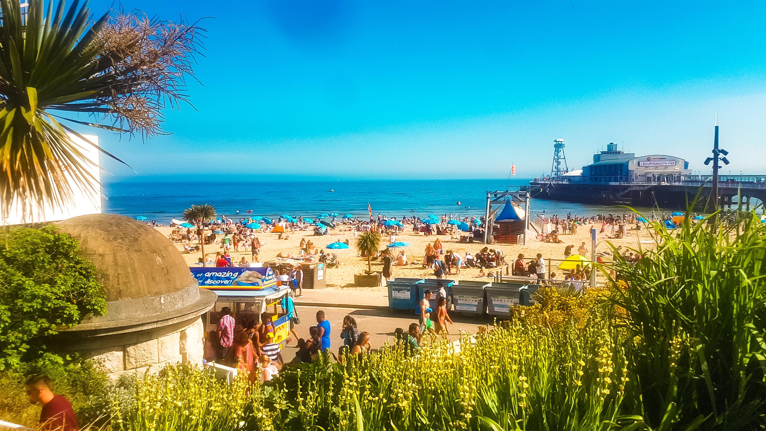 Bournemouth beach, Bournemouth, Dorset, Jurrassic coast, Dorset beach