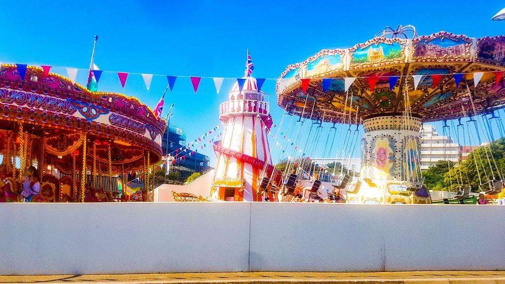 Bournemouth promenade, Funfair, Funfair on Bournemouth prom, Bournemouth beach, Bournemouth, Dorset, Dorset beaches
