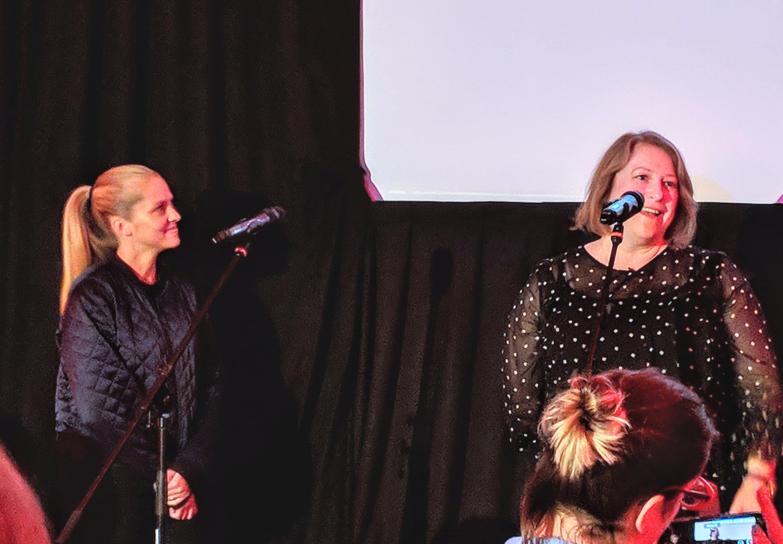 Teresa Palmer and Deborah Harkness