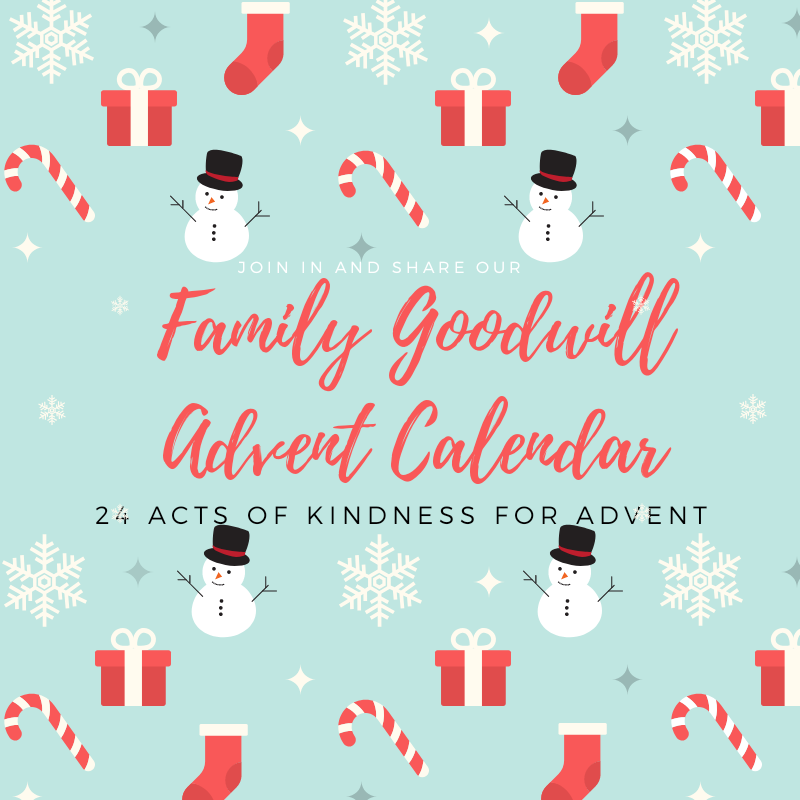 We have created a family goodwill advent calendar which features 24 random acts of kindness for advent. This is a great way for parents to teach children about the spirit of Christmas and the season of goodwill.