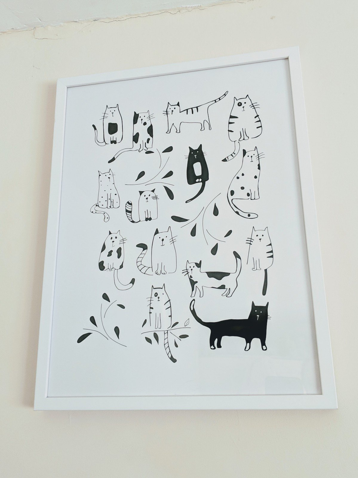 Cats framed print from Desenio affordable art, posters, prints and frames