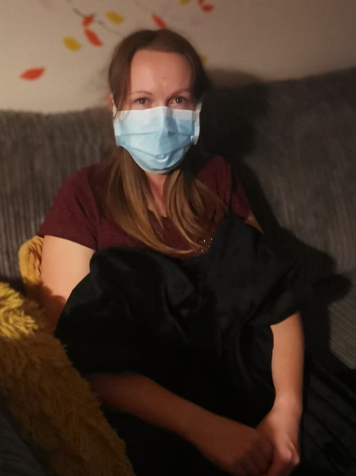 Wearing a face mask, as instructed by a paramedic, during the UK Coronavirus lockdown