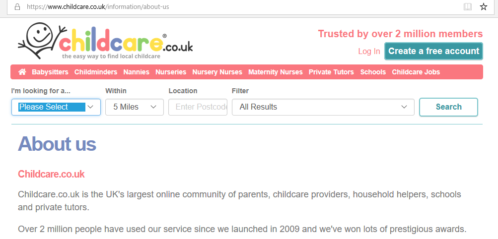 looking for childcare after coronavirus, using childcare.co.uk